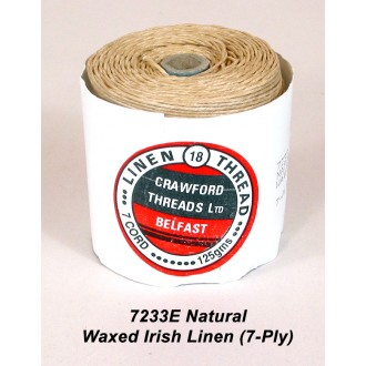 Natural Waxed Linen 7-ply