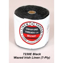 Black Waxed Linen 7-ply