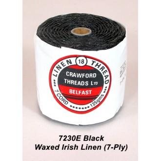 Black Waxed Linen 7-ply