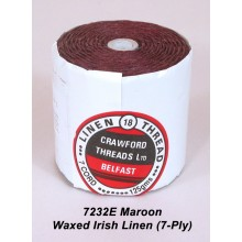7-ply Maroon Waxed Irish Linen - Spool