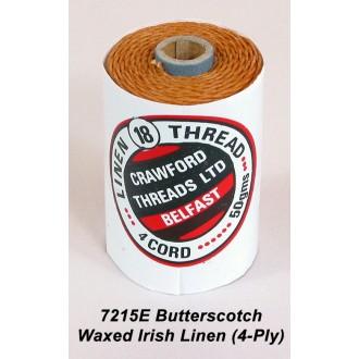 Butterscotch Waxed Linen 4-ply