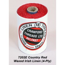 Country Red-Waxed Irish Linen 4-ply - Spool