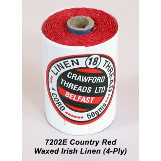 Country Red Waxed Linen 4-ply