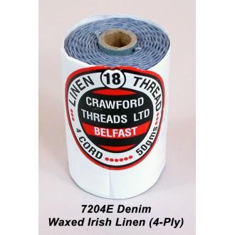 Denim Waxed Linen 4-ply