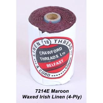 Maroon Waxed Linen 4-ply