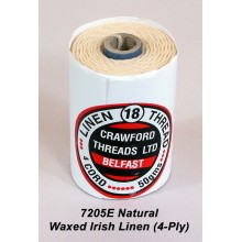 Natural-Waxed Irish Linen 4-ply - Spool TEMPORARILY OUT OF STOCK