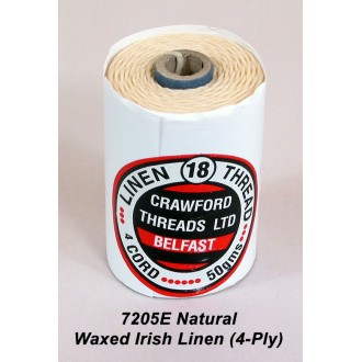 Natural Waxed Linen 4-ply