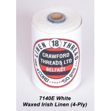 White Waxed Linen 4-PLY - Spool