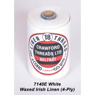 White Waxed Linen 4-ply