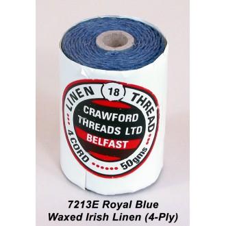 Royal Blue Waxed Linen 4-ply
