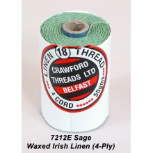 Sage-Waxed Irish Linen 4-ply - Spool