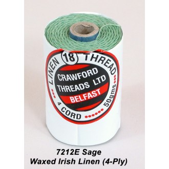 Sage Waxed Linen 4-ply
