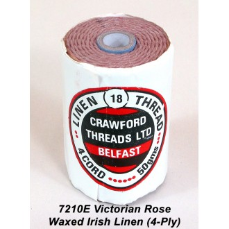 Victorian Rose Waxed Linen 4-ply