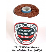 Walnut Brown-Waxed Irish Linen 4-ply - Spool