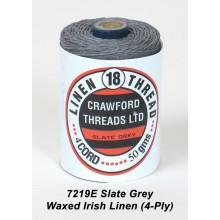 Slate Grey Waxed Irish Linen 4-ply - Spool