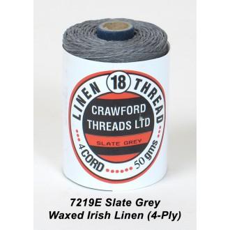 Slate Grey Waxed Linen 4-ply