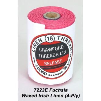 Fuchsia Waxed Linen 4-ply