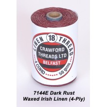 Dark Rust Waxed Linen 4-ply