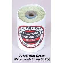 Mint Green-Waxed Irish Linen 4-ply - Spool