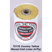 Country Yellow-Waxed Irish Linen 4-ply - Spool
