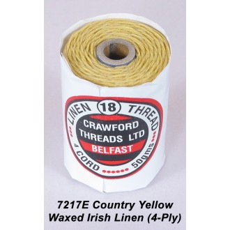 Country Yellow Waxed Linen 4-ply