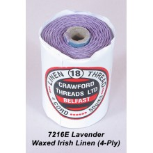 Lavender-Waxed Irish Linen 4-ply - Spool