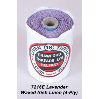 Lavender Waxed Linen 4-ply
