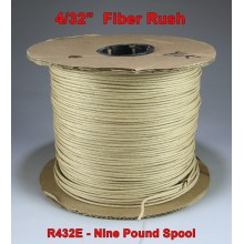 "4/32"" Fiber Rush Brown - 9-Pound Spool"