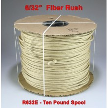 R632 6/32'' Fiber Rush Brown - 10-pound Spool
