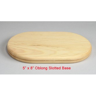 5 inch x 8 inch wooden slotted base