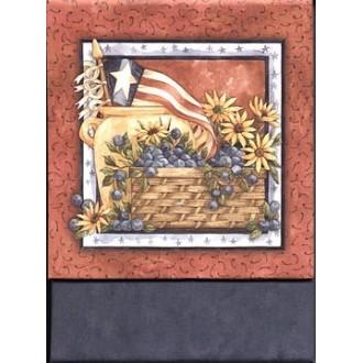 Magnetic Pocketbook Pad-Blueberries  Flag
