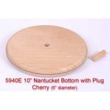 "10"" Nantucket Bottom with Plug (Diameter of this base is 6"")"