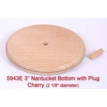 "3"" Nantucket Bottom with Plug (Diameter of this base is 2 1/8"")"