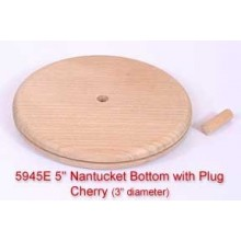 """5"""" Nantucket Bottom with Plug (Diameter of this base is 3"""")"""