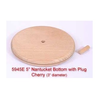 "5"" Nantucket Bottom with Plug (Diameter of this base is 3"")"