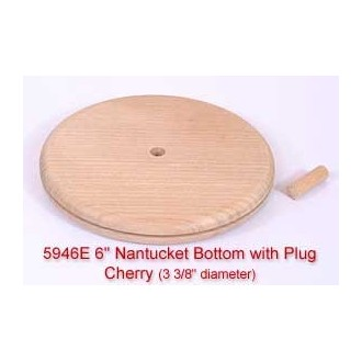 "6"" Nantucket Bottom with Plug (Diameter of this base is 3 3/8"")"