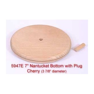 "7"" Nantucket Bottom with Plug (Diameter of this base is 3 7/8"")"