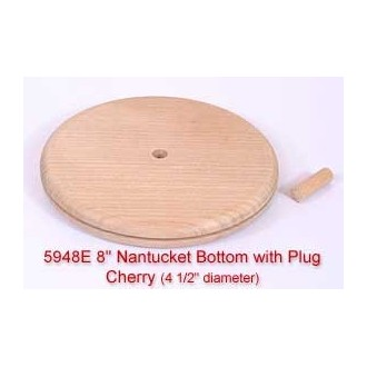 "8"" Nantucket Bottom with Plug (Diameter of this base is 4 1/2"")"