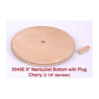 "9"" Nantucket Bottom with Plug (Diameter of this base is 5 1/8"")"