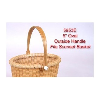 5 inch Oval Outside Handle fits Sconset Basket