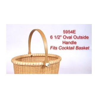 6.5 inch Oval Outside Handle fits Cocktail Basket