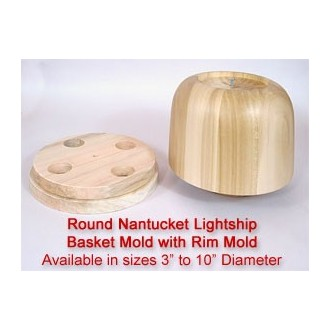 9 inch Nantucket Mold and Rim Mold - Supply is Limited
