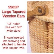 Large Tapered Wooden Ears - Set of 2