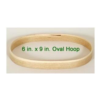 6 inch x 9 inch x 3/4 inch Oval Solid Hardwood Hoop