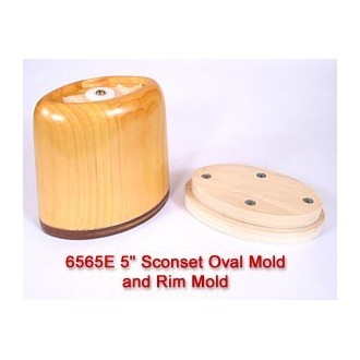 5 inch Sconset Oval Mold and Rim Mold