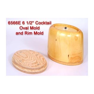 6.5 inch Cocktail Oval Mold and Rim Mold