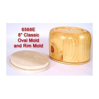 8 inch Classic Oval Mold and Rim Mold