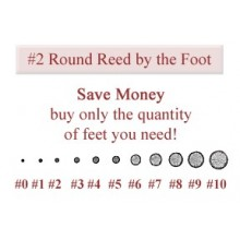 per foot - No. 2 Round Reed - sold by the foot