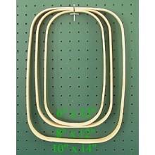 8 inch x 12 inch x 3/4 inch Rectangular Hoop