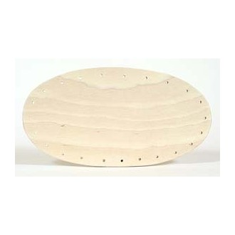 Drilled Base - 4 inch x 8 inch Oval